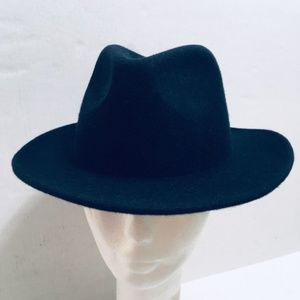 Men's 100% Wool Felt Navy Blue Fedora Hat